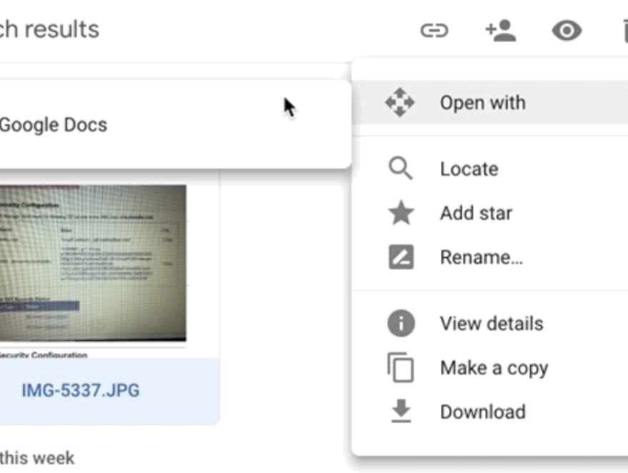 Convert pdfs and images to text using OCR in Google Drive