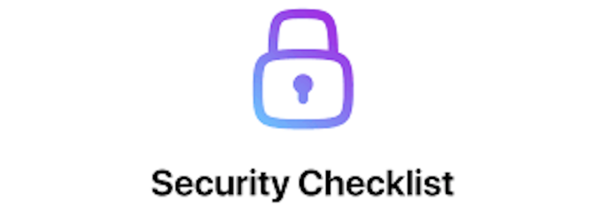 security checklist logo