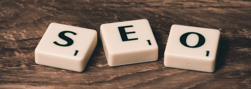 SEO spelled with dominoes